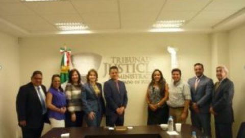 VISITA COMITÉ DE PARTICIPACIÓN CIUDADANA DEL SISTEMA ESTATAL ANTICORRUPCIÓN LAS INSTALACIONES DEL TRIBUNAL DE JUSTICIA ADMINISTRATIVA