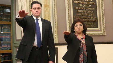 TOMA DE PROTESTA DE MARÍA ESTHER TORREBLANCA CORTÉS Y GILBERTO SUÁREZ MACHADO