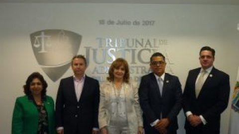 VISITA EL ENCARGADO DE DESPACHO DE LA AUDITORÍA SUPERIOR DEL ESTADO AL TRIBUNAL DE JUSTICIA