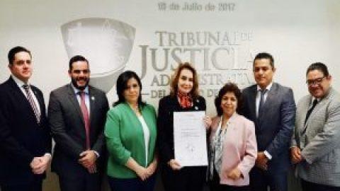 """EL TRIBUNAL DE JUSTICIA ADMINISTRATIVA DEL ESTADO DE PUEBLA ENTRE LOS 10 DE TODO EL PAÍS CON LA CALIFICACIÓN MÁS ALTA """"CERTIFICACIÓN NIVEL ORO"""", 100 PUNTOS EN LA NORMA MEXICANA NMX-R-025-SCFI-2015 EN IGUALDAD LABORAL Y NO DISCRIMINACIÓN EN 2018"""