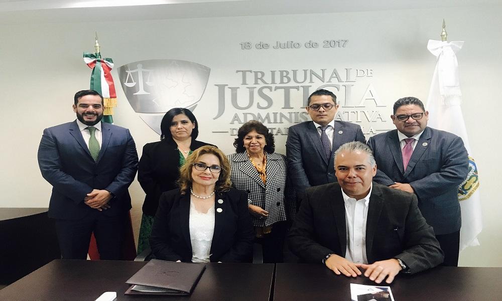 VISITA DEL LICENCIADO IGNACIO ALARCÓN RODRÍGUEZ PACHECO, PRESIDENTE DEL CONSEJO COORDINADOR EMPRESARIAL AL TRIBUNAL DE JUSTICIA ADMINISTRATIVA DEL ESTADO DE PUEBLA.
