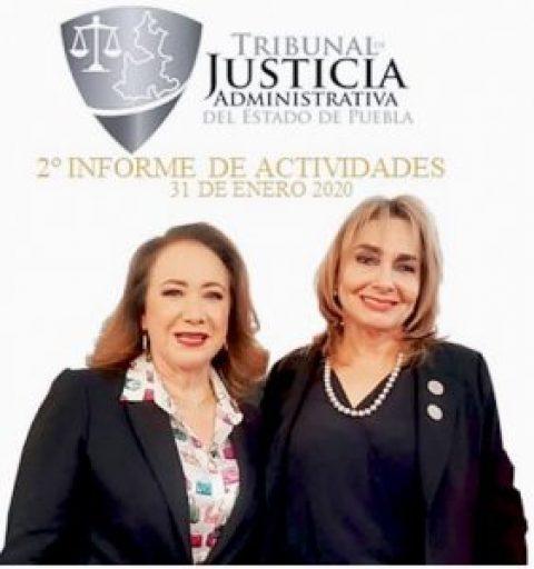 MARÍA DE LOURDES DIB Y ÁLVAREZ, MAGISTRADA PRESIDENTA DEL TRIBUNAL DE JUSTICIA ADMINISTRATIVA DEL ESTADO DE PUEBLA, RINDE SU SEGUNDO INFORME DE ACTIVIDADES.