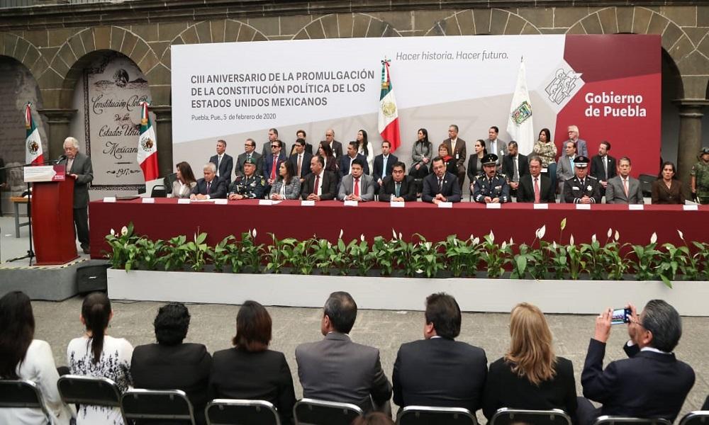 REPRESENTACIÓN DE MARÍA DE LOURDES DIB Y ÁLVAREZ, MAGISTRADA PRESIDENTA DEL TRIBUNAL DE JUSTICIA ADMINISTRATIVA DEL ESTADO DE PUEBLA EN EL CIII ANIVERSARIO DE LA CONSTITUCIÓN POLÍTICA DE LOS ESTADOS UNIDOS MEXICANOS.