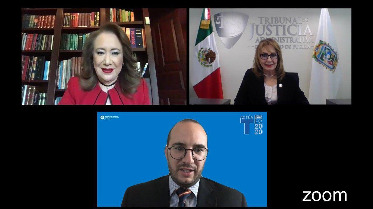 """MINISTRA DE LA SUPREMA CORTE DE JUSTICIA DE LA NACIÓN, DOCTORA YASMÍN ESQUIVEL MOSSA, DICTA CONFERENCIA MAGISTRAL """"RETOS DE LA SCJN Y PROTECCIÓN DE LOS DDHH ANTE COVID 19""""."""
