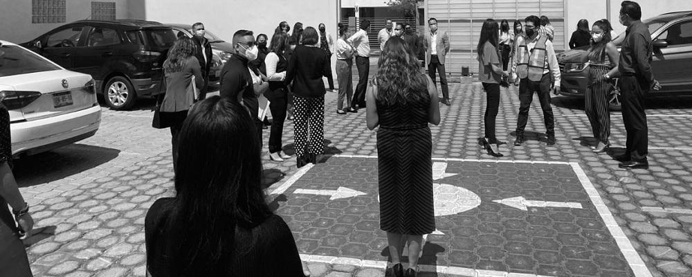 EL TRIBUNAL DE JUSTICIA ADMINISTRATIVA DEL ESTADO DE PUEBLA PARTICIPO EN EL MACRO SIMULACRO SÍSMICO NACIONAL EL 21 DE JUNIO DE 2021 CON TODO ORDEN Y DISCIPLINA.
